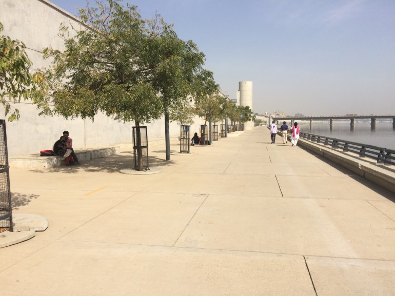 lack of shade along Sabarmati